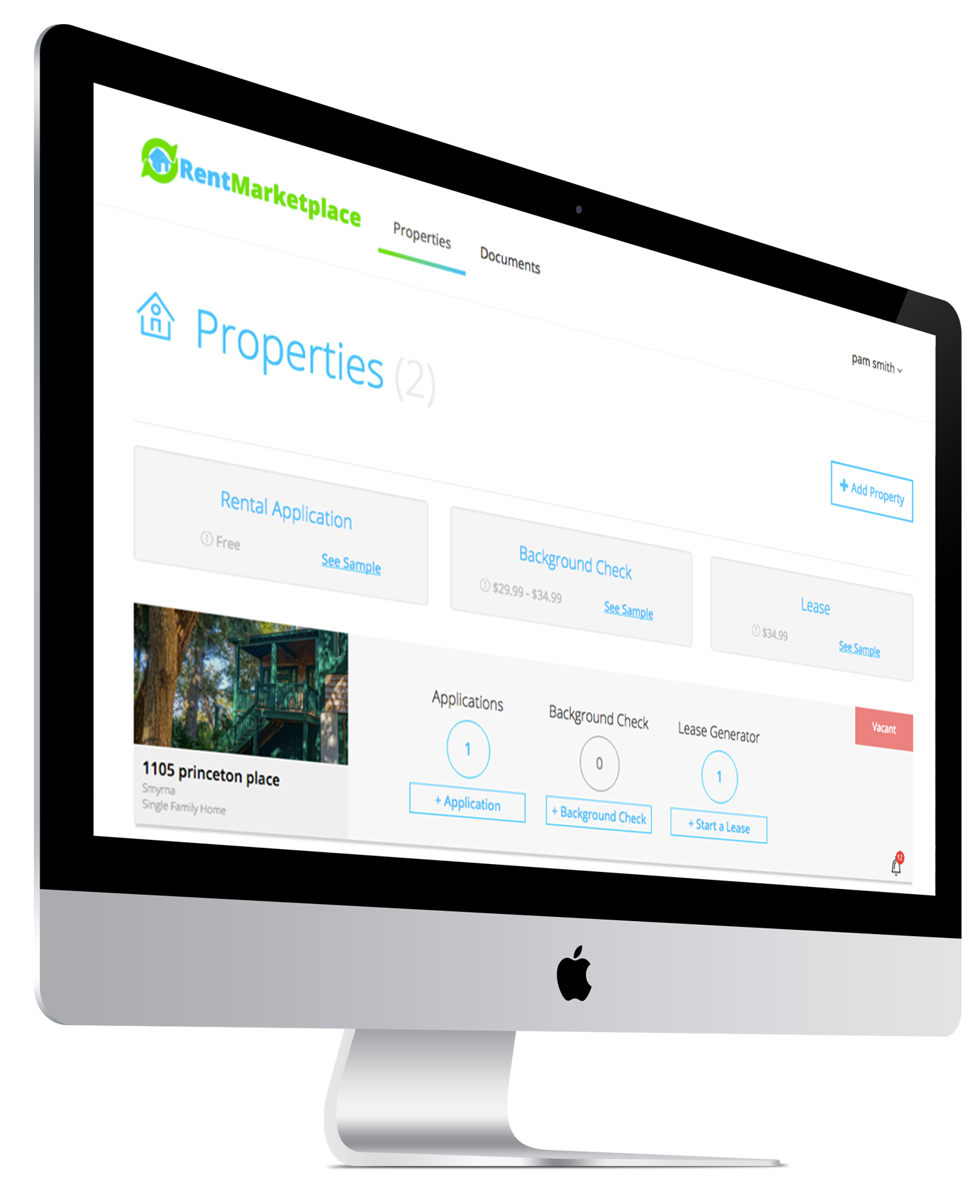 Landlord Property page